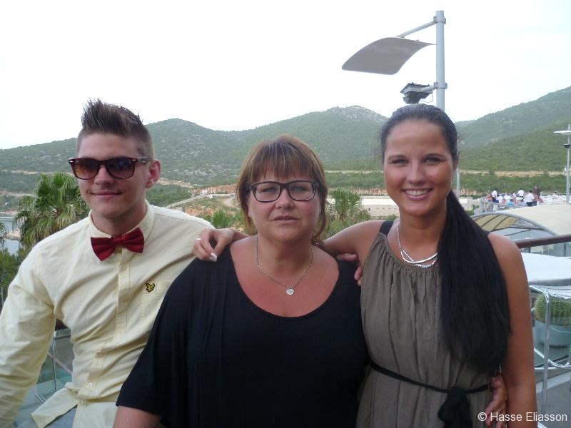 Fredrik, Malin och Jasmin